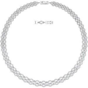Swarovski All Around Wide Crystal Rhodium Necklace